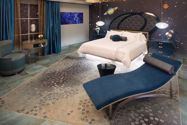 Galactic Guest Room - flying in space.